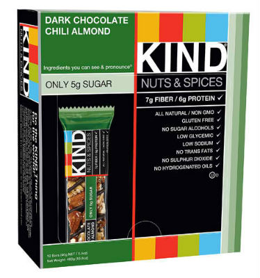 KIND SNACKS: KIND BAR DARK CHOCOLATE CHILI ALMOND 12/BX