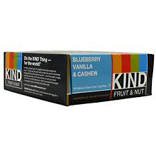 KIND SNACKS: KIND BAR BLUEBERRY VANILLA CASHEW 12/BX