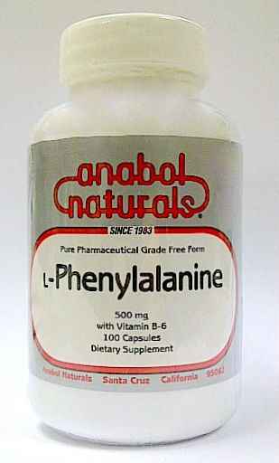 ANABOL NATURALS: L-Phenylalanine 500mg 100 Capsules