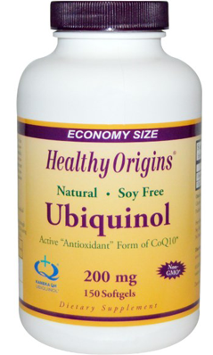 HEALTHY ORIGINS: Ubiquinol 200mg Soy Free Non-GMO 150 softgel
