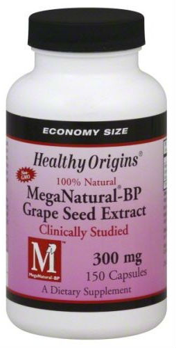 Mega Natural BP Grape Seed Extract 300mg 150 Capsules from HEALTHY ORIGINS
