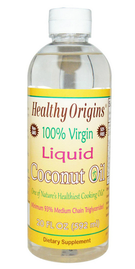 HEALTHY ORIGINS: Liquid Coconut Oil (100% Virgin) 20 oz