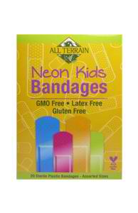 ALL TERRAIN: Kids Neon Bandages 20 ct