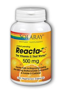 Solaray: Reacta-C 500mg with Bioflavonoids 120 Vcaps