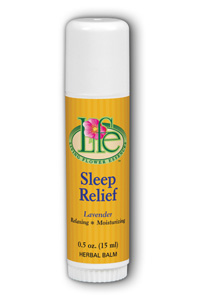 Living Flower Essences: Sleep Relief Stick Balm 0.5 oz Sav Lavender