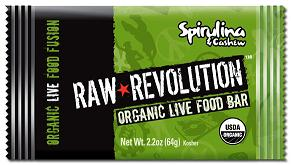 Raw Revolution: Bar,og,spirulina & cashew 2.2 OZ