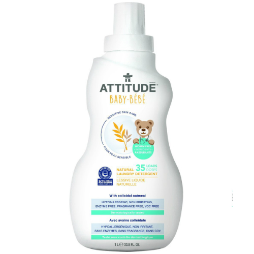 ATTITUDE: Sensitive Skin Care Natural Laundry Detergent - Baby 33.8 oz