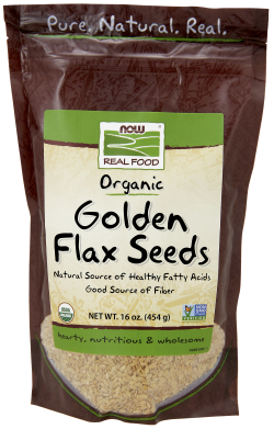 GOLDEN FLAX SEEDS ORGANIC, 1 LB
