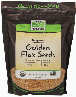 ORGANIC GOLDEN FLAX SEEDS, 2 LB