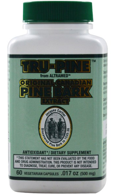 ESSIAC INTERNATIONAL: Tru-Pine Original Canadian Pine Bark Extract 60 capvegi