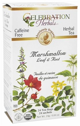 Celebration Herbals: Marshmallow Leaf and Root Organic 24 bag