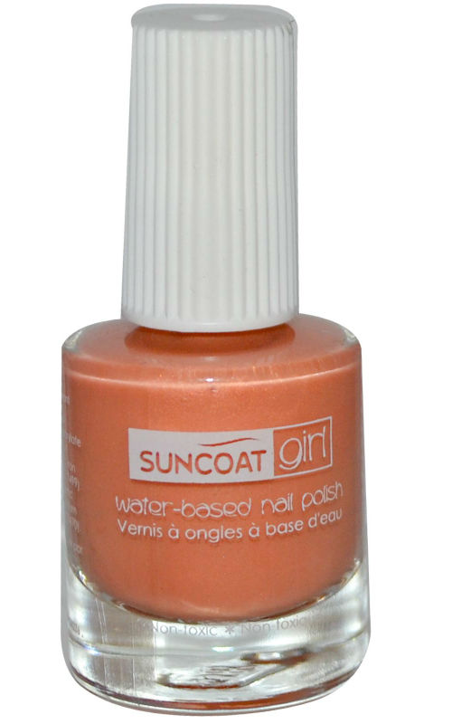 SUNCOAT PRODUCTS INC: Water-Based Peelable Nail Polish for Kids Delicous Peach 0.27 oz