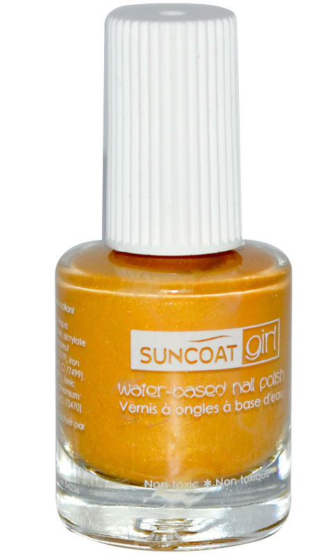 SUNCOAT PRODUCTS INC: Water-Based Peelable Nail Polish for Kids Sunflower 0.27 oz