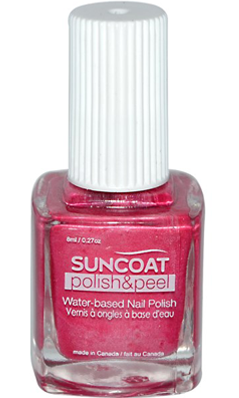 SUNCOAT PRODUCTS INC: Polish and Peel Water-Based Nail Polish Pink Dahila 0.27 oz
