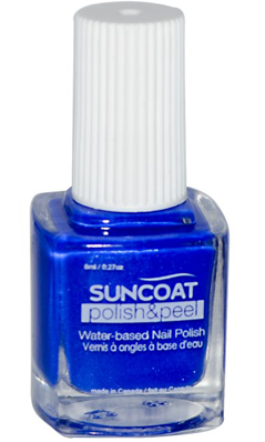 SUNCOAT PRODUCTS INC: Polish and Peel Water-Based Nail Polish Lovely Lapis 0.27 oz