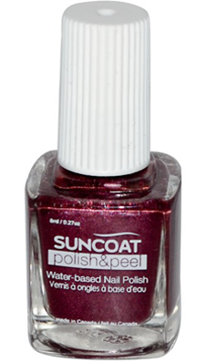 Buy Polish And Peel Water Based Nail Polish Mulberry 0 27 Oz From Suncoat Products Inc And Save