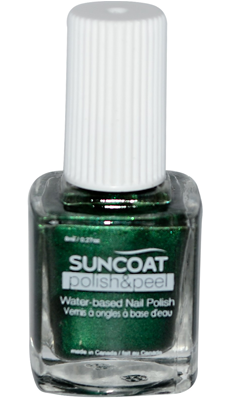 SUNCOAT PRODUCTS INC: Polish and Peel Water-Based Nail Polish Greenista 0.27 oz