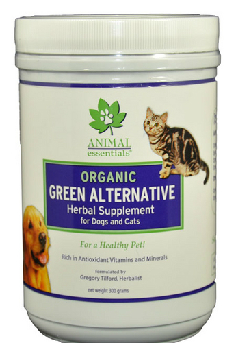 ANIMAL ESSENTIALS INC: Organic Green Alternative Herbal Supplement Powder for Dogs & Cats 300 gm