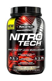 MUSCLETECH: NITRO-TECH COOKIES and CREAM 2 LBS