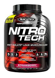 MUSCLETECH: NITRO-TECH STRAWBERRY 4 LBS