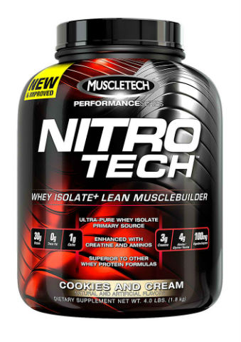MUSCLETECH: NITRO-TECH COOKIES and CREAM 4 LBS