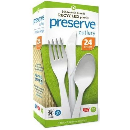 PRESERVE: Cutley Medium Weight Mixed Pack White 24 ct