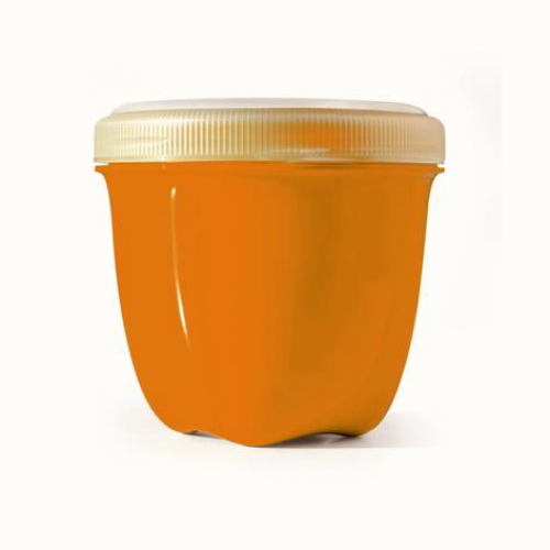 PRESERVE: Food Storage Mini Round Orange 8 oz