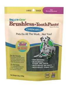 ARK NATURALS: Breathless Brushless Toothpaste for Dogs Large 18 oz