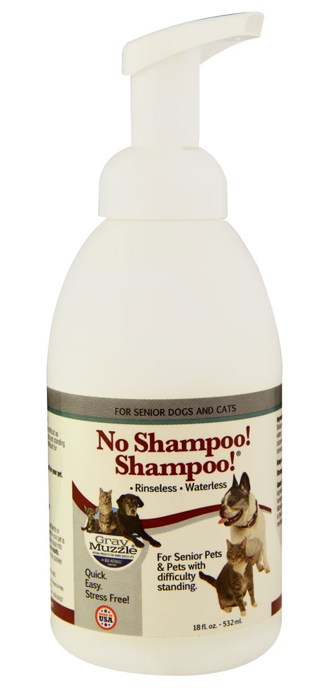 ARK NATURALS: No Shampoo! Shampoo Rinsless Waterless for Senior Pets Dogs & Cats 18 oz