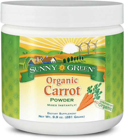 Organic Carrot Powder Dietary Supplement