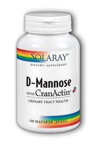 Solaray: D-Mannose with CranActin 120 caps - 1000mg