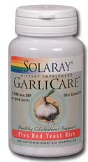 Solaray: GarliCare Plus Red Yeast Rice 60ct
