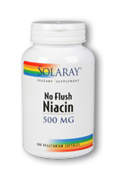 Solaray: No Flush Niacin-500 100ct 500mg
