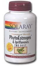 Solaray: PhytoEstrogen and Ipriflavones Two Daily 60ct