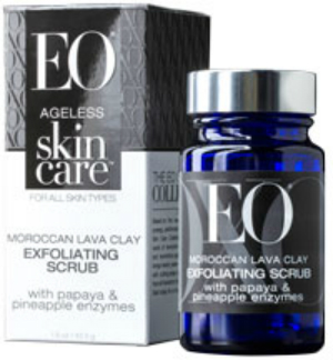 EO PRODUCTS: Ageless Skin Care Exfoliating Scrub Moroccan Lava Clay 1.5 oz