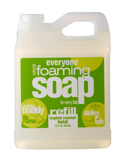 EO PRODUCTS: EveryOne Kid's Foaming Soap Refill Tropical Coconut Twist 32 oz