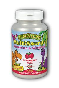 Kal: MultiSaurus Strawberry FizzActiv Chewable 60 ct - Chewable
