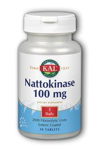 Kal: Nattokinase 100mg 30ct - 2000 Fibrinolytic Units