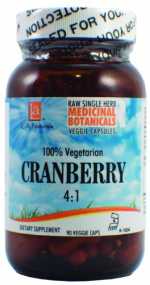 Cranberry Raw Herb 90 vgc from L A Naturals