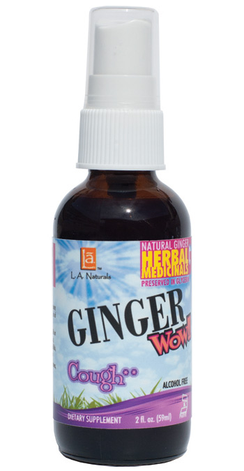 L A Naturals: Ginger Wow Cough Spray 2 oz