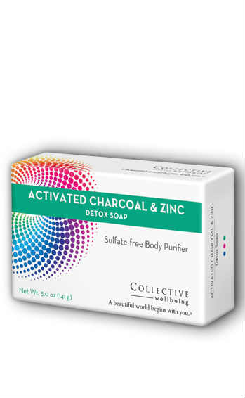 LifeFlo: Detox Soap Active Charcoal/Zinc Bar Citrus (Carton) 5oz