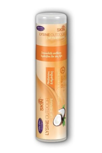 Life-flo health care: Lysine Outdoor Lip Therape (Coconut) 3 x 0.25 oz Salve