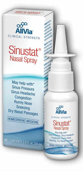Allvia: Sinustat Nasal Spray Unscented (Carton) 0.8oz