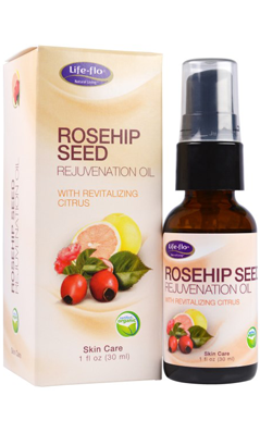 LifeFlo: Rosehip Seed Rejuvenation Oil Organic Revitalizing Citrus 1 oz Oil