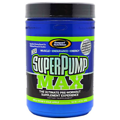 GASPARI NUTRITION: SUPERPUMP MAX SOUR APPLE 40/SRV