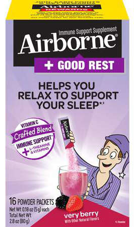 AIRBORNE: Good Rest Powder Packet Very Berry 30 ct