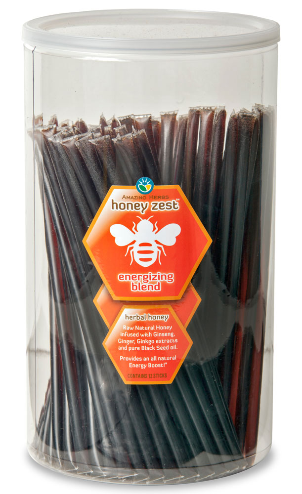 HoneyZest Energizing Honey Sticks