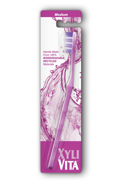 XYLIVITA: Acai Purple Medium Toothbrush 1 ea Brush