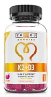 K2 + D3 Gummies Natural Strawberry Flavor