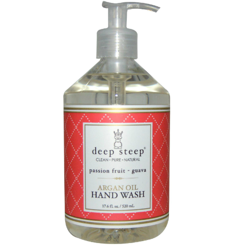 DEEP STEEP: Argan Oil Liquid Hand Wash Passion Fruit Guava 17 oz